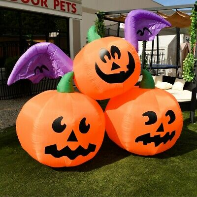 ALEKO Blow up Outdoor Yard Decoration Halloween Inflatable 3 Pumpkins 6 ft