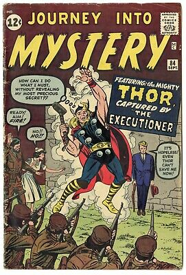 Journey into Mystery #84 VG+ 4.5 off-white pages  2nd app. Thor  Marvel  1962