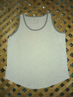Poof! Gray Stretch Cotton Blend Sleeveless Tank Top Plus Size 3X NWT