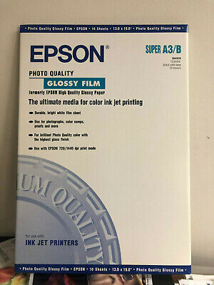 16 Epson S041074 Photo Quality Glossy FILM Super A3/B, 160 Sheets total, NEW