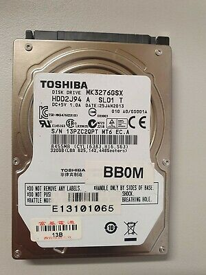 Toshiba MK3276GSX Internal hard drive 320 GB SATA-300 Series For Laptop PS3 PS4
