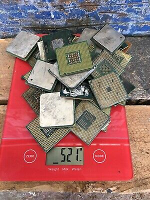 GOLD RECOVERY SCRAP 33 OLD COMPUTER CPU Chips