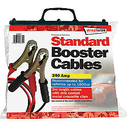 Booster Cable Crocodile Clips 3 Meter 240 Amp Recommended For 1600cc Vehicles