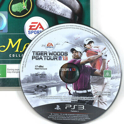 Tiger Woods PGA Tour 13 PS3 Sony Playstation 3 Masters Collectors cover