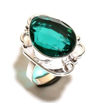 Lovely Apatite Quartz Silver Designer Jewelry Ring Size 7.50 JB361