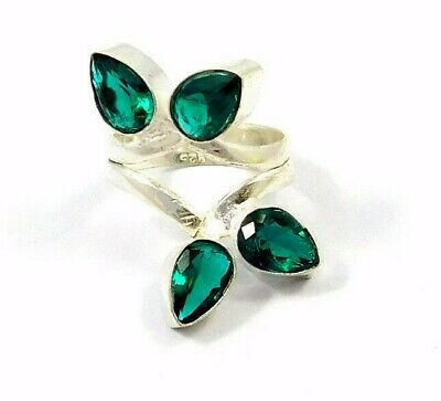 Charming Apatite Quartz Silver Designer Jewelry  Ring Size 7.50 JC9061