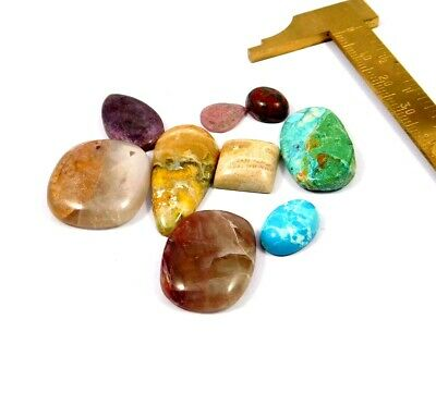 107 Cts. 100% Natural Lot Of Mix Stone Loose Cabochon Gemstone NG21976
