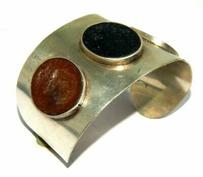 Heated Stone Designer Tibetan Silver Handmade Cuff Fashion Jewelry C87