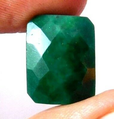 Dyed Faceted Beryl Gemstone 13 ct 14x10mm AQ707
