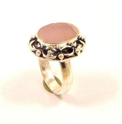Charming Chalcedony Silver Designer Jewelry Ring Size 8 JC6367