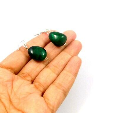 Dyed Emerald .925 Silver Plated Handmade Designer Earring Jewelry JC10007