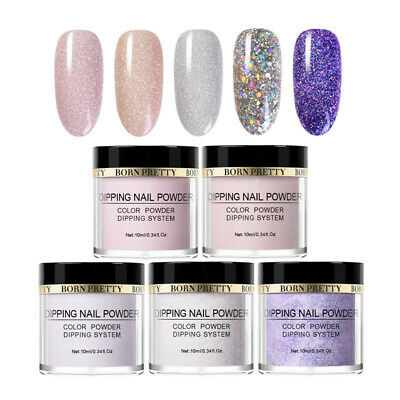 5 Boxes/Set BORN PRETTY Dipping Powder Glitter Dip Liquid Nail Art Starter Kit