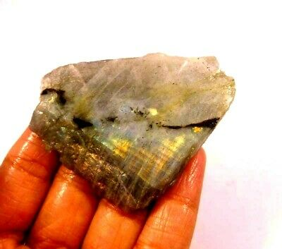 100% Natural Flashy Labradorite Slice Mineral Specimen 174 CT 62x45mm NG10532