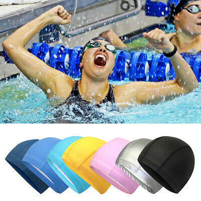 Swimming Cap Adult Hat Silicone Elastic Flexible Durable Ladies Gents Swim Cap