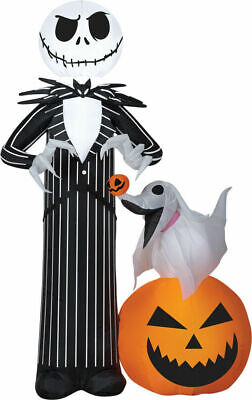 Halloween Jack Skellington Zero Nightmare Before Christmas Inflatable Airblown