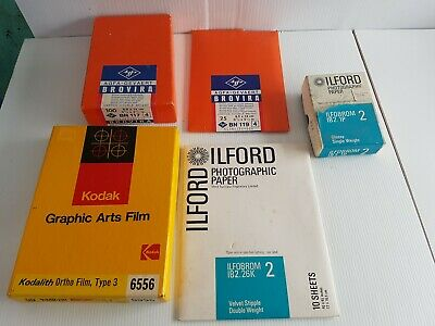 Kodak ilford agfa Various lot photograph developing photographic paper