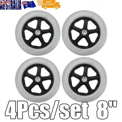"4Pcs Rollator Walker Replacement Parts 8"" Front Rear Caster Wheel"