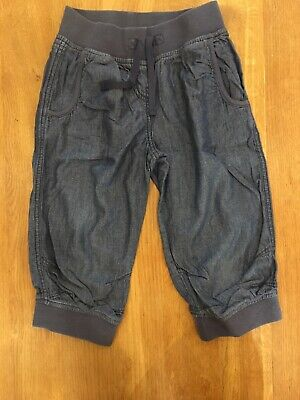 NEXT girls Blue Light Weight Cropped Trousers Age 8 years Excellent Condition