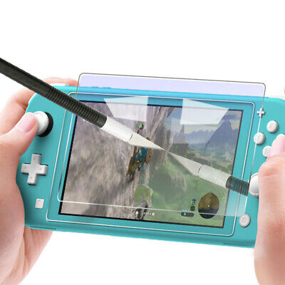 9H Tempered Glass Screen Protector + Hard Clear Case For Nintendo Switch Lite