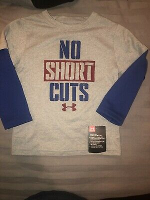 New With Tags Boys Infant Toddler Long Sleeve Under Armour Tee Size 2T
