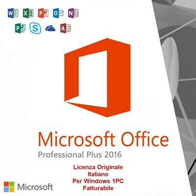 Office 2016 Professional Plus 32/64 Bit Licenza Originale Chiave Download Link