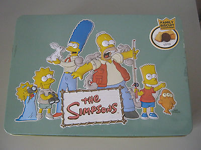 The Simpsons Empty Biscuit Tin - Made In 2011