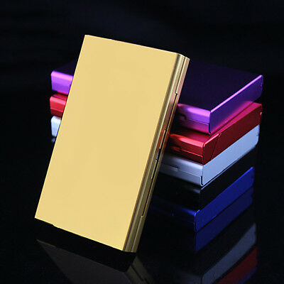 Women Slim Aluminum Cigarette Case Storage Organizer Metal Holder Box Case Tool