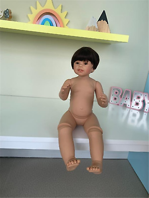 Standing Reborn Toddlers 34 Inches Reborn Baby Big Girls Dolls Without Clothes