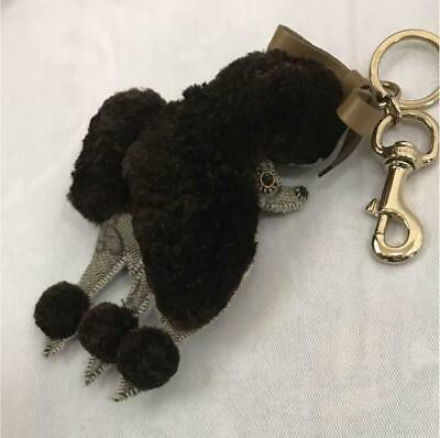 GUCCI Authentic Poodle Dog GG Logo Key Chain Holder key Ring Bag Charm New