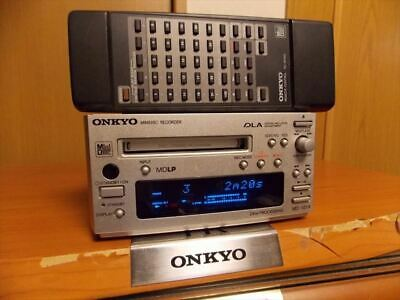 ONKYO INTEC 155 MD deck silver MD-101A with Compatible Remote Control RC-301MD