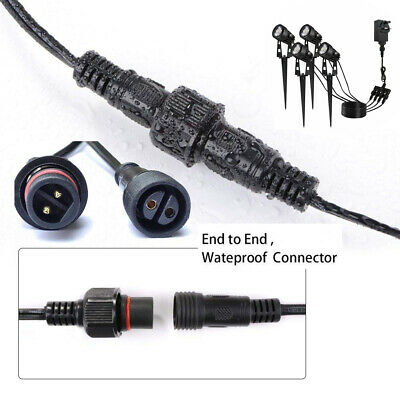 Extension Cable ECOWHO Outdoor Extension Lead Extension Cord 4 Meters Garden Wire 2 Pack for ECOWHO Outdoor Landscape Lights