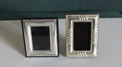 Two Small Sterling Silver Photo Frames 55Mm By 70Mm And Other 54Mm By 75Mm