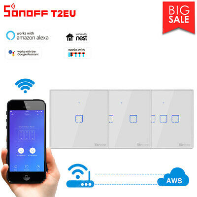 Sonoff 1 2 3 Gang Smart Panel tactile WiFi I'Interrupteur Retome Light Control