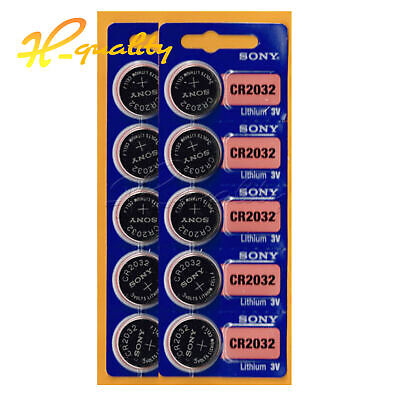 5/10PCS CR2032 3V Button Cell Li-ion Battery CR 2032 for Motherboard