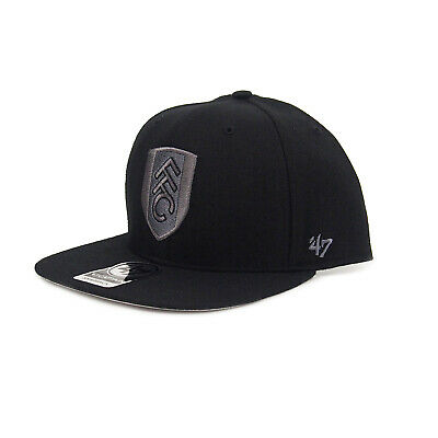 Fulham FC 47 Brand Official Football Gift Mens Snapback Baseball Cap Black