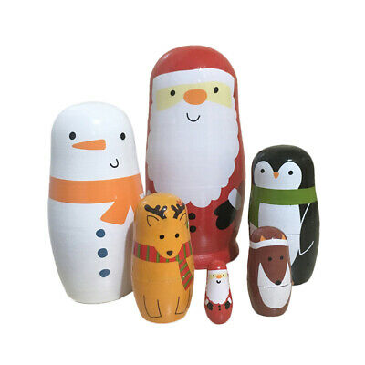 6pcs Cute Nesting Dolls Stacking Doll Adorable Matryoshka for Adults Children