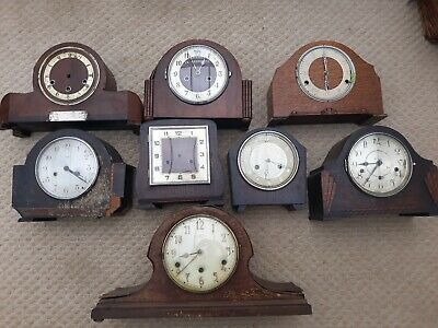Assortment of mantel clocks