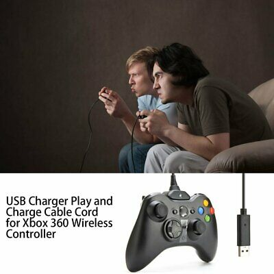 USB Charger Play and Charge Cable Cord for Xbox 360 Wireless Controller ML