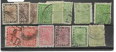 Nepal:  14 Stamps  1907