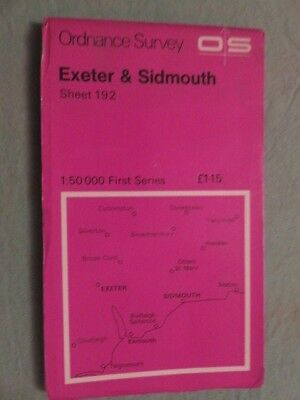 OS Map of EXETER & SIDMOUTH sheet 192 / 1:50 1st series