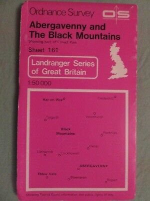 OS Map of ABERGAVENNY & BLACK MOUNTAINS sheet 149 1:50 000 LANDRANGER series