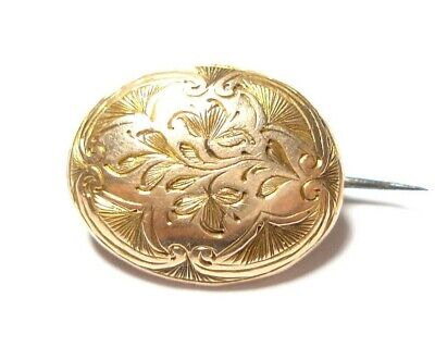 Beautiful Small Antique Georgian Or Victorian Gold Or Gold Cased Brooch