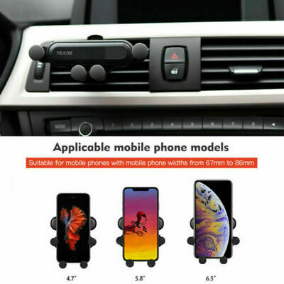 Gravity Car Air Vent Phone Mount Holder For iPhone 6 7 8 X Samsung Galaxy S8 GPS