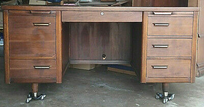 MID CENTURY MODERN Desk -- Iconic Executive Wood Desk by ...
