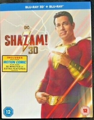 Shazam! [2019] (3D Blu-ray) NEW & SEALED WITH SLIP COVER