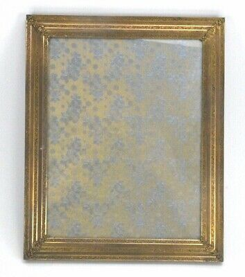 Vintage Antique Small Ornate Solid Brass Picture Frame  with glass 8 x 10