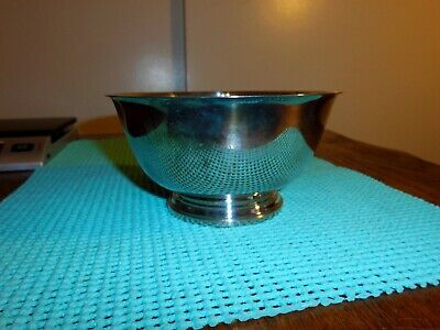 """6 ¼"""" Footed Bowl by Oneida Paul Revere Reproduction Made in USA Silver Plated"""