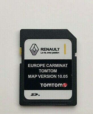 2019 RENAULT TomTom CARMINAT sat nav SD CARD EUROPE and UK MAP V10.05