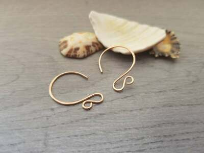 Raw Bronze Circle Ear Wires | HANDMADE TO ORDER | 5/10/20 Pairs | LUNA