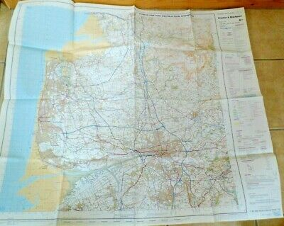 Preston Blackpool 1981 military map Ministry of Defence sheet large RAF